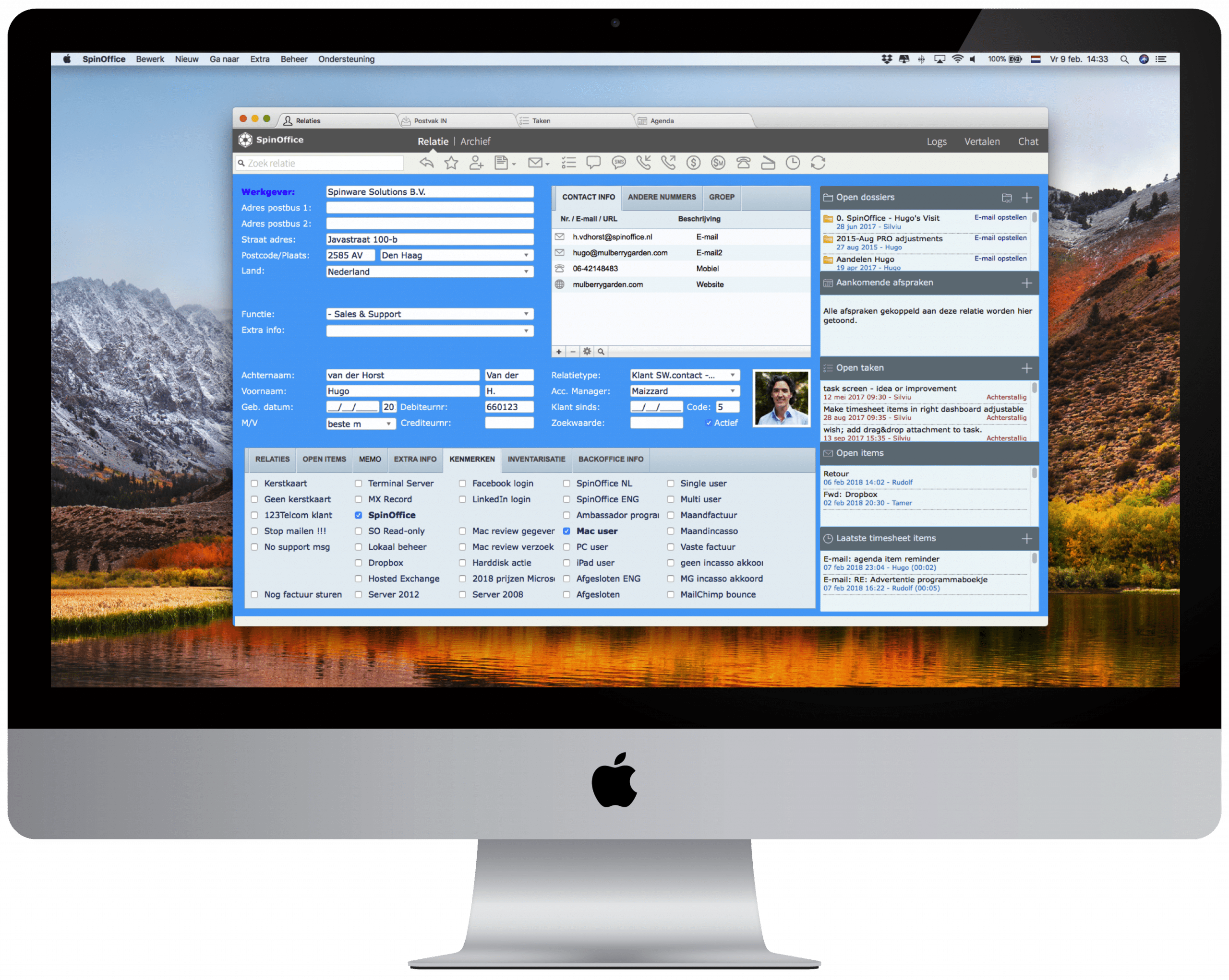 SpinOffice CRM Mac